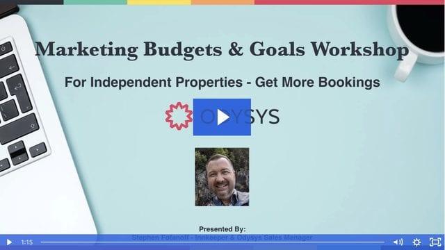 , New Webinar on Demand: Marketing Goals & Budgeting Workshop, Odysys