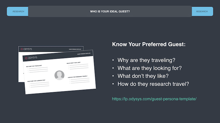 who is your ideal guest? create a persona for your ideal hotel guest - know who you're targeting so you can improve how you communicate with them