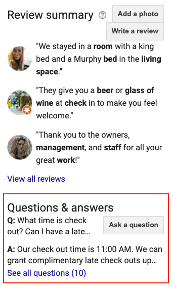 Q&A|Q&A, What B&B's and Hotels Need to Know About Google's Q&A Feature, Odysys