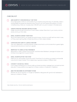 checklist for getting 5-star reviews
