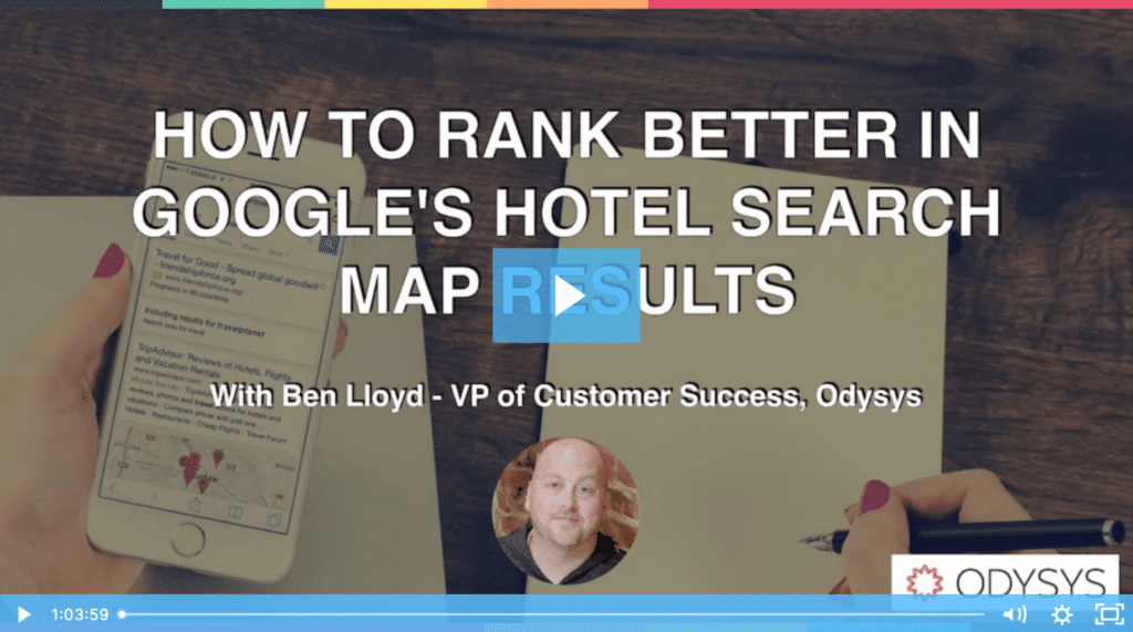 , How to Rank Better in Google's Hotel Search Map Results, Odysys