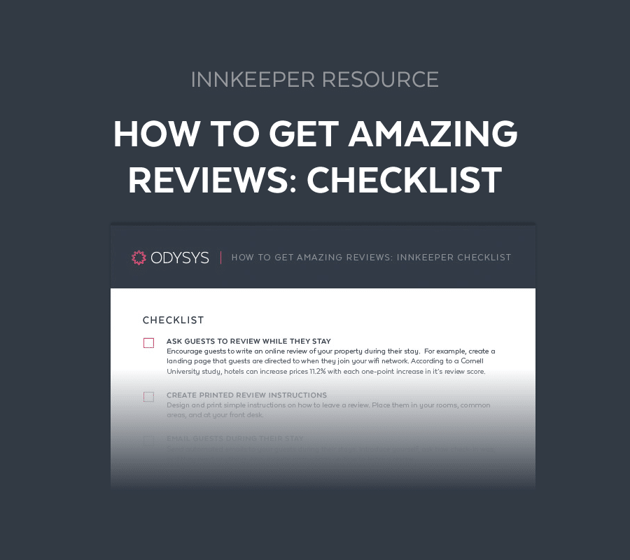 Innkeeper Resource: How to Get Amazing Reviews