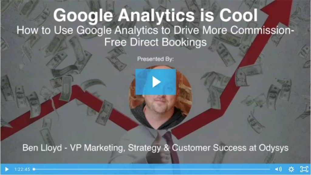 , Using Google Analytics to Drive More Commission-Free Direct Bookings, Odysys