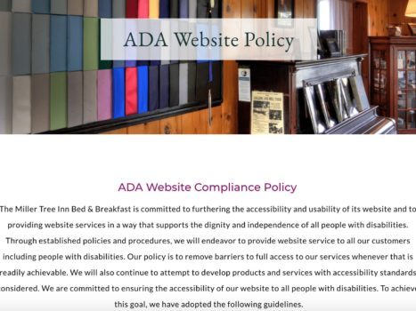 , Get Up to Speed on B&B Website ADA Compliance & Accessibility, Odysys